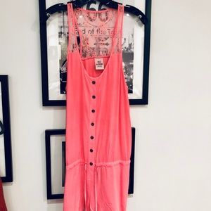 VS PINK Jumper / Romper in Coral. sz S/M.